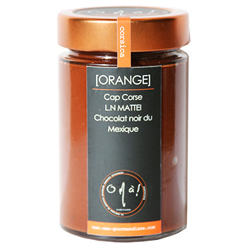 Confiture Chocolat Noir et Orange douce O mà!